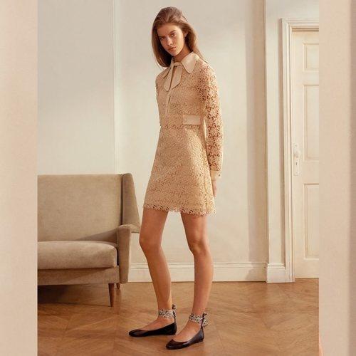 Vestido de encaje marrón de la nueva colección de MAX&Co primavera/verano 2018