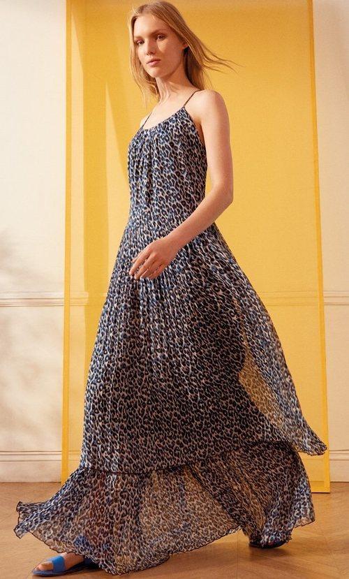 Vestido vaporoso de animal print de la nueva colección de MAX&Co primavera/verano 2018