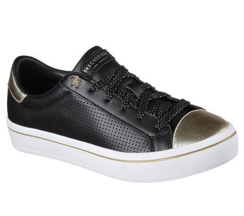 Zapatillas metalizadas negras y doradas de Skechers Street 2018