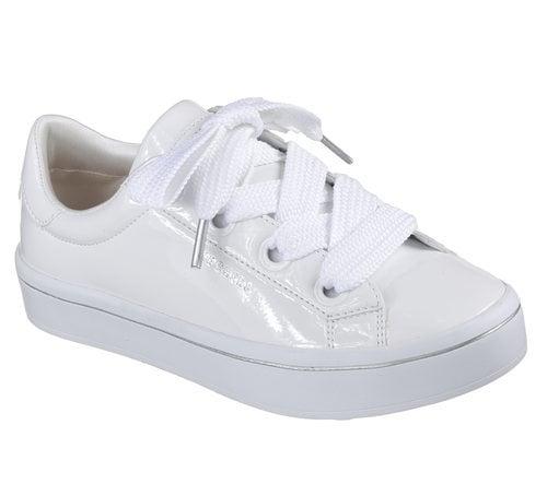 Zapatillas de charol blancas de Skechers Street 2018