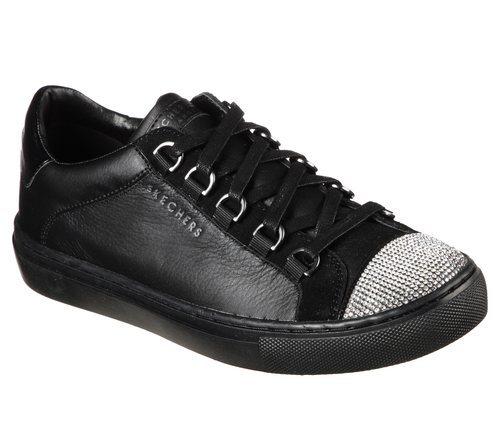 Zapatillas negras con brillantes en la punta de Skechers Street 2018