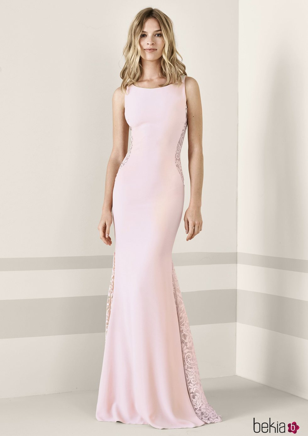 Vestido fiesta pronovias rosa