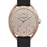 Reloj con la esfera repleta de diamantes de la colección Liens Lumière de Chaumet