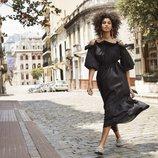 Vestido en color negro voluminoso de la nueva colección de primavera 2018 de H&M