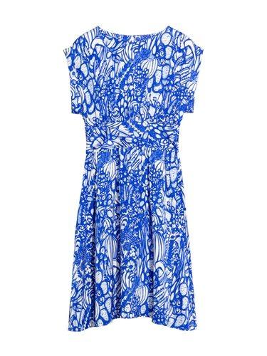 Vestido azul con estampado de frutas en color blanco de la nueva colección cápsula primavera/verano 2018 Bridalde & Other Stories
