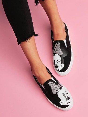 Mocasines de Minnie negros de Chiara Ferragni x Disney