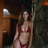 Bikini de animal print rojo de Emily Ratajkowski