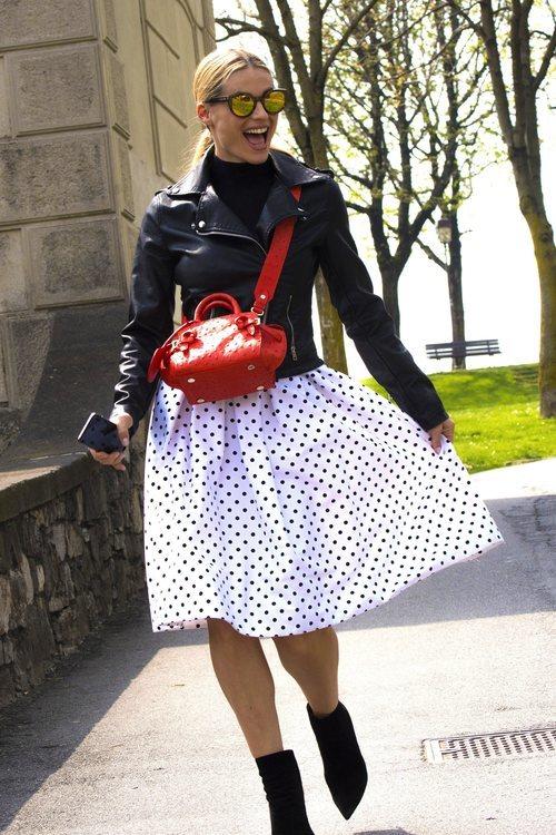 Michelle Hunziker con una falda de vuelo en el ranking de las mejor vestidas