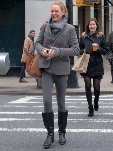 El desaliñado look de Uma Thurman de esta semana