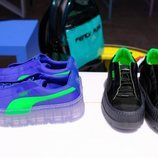 Zapatillas en color neón  de la presentación de la nueva colección de Fenty x Puma by Rihanna