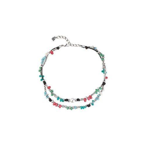 Collar bañado en plata de colorines de la nueva colección primavera/verano 2018 de la firma Uno de 50 'colección océano'