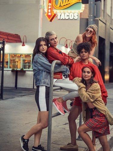 Cara Delevingne en la campaña del nuevo modelo de Puma 'Suede Bow'
