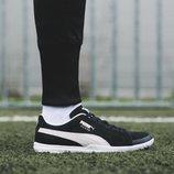 Botas de fútbol en color negro de la nueva colección 'Future Suede' de Puma