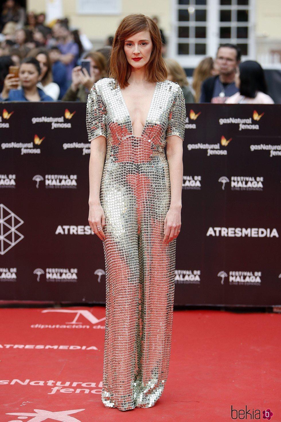 Ana María Polvorosa con un vestido brillante en el Festival de Cine de Málaga 2018 ...