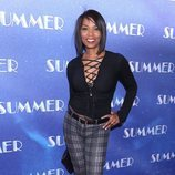 Vanessa Williams con un pantalón de cuadros en el estreno del musical 'The donna summer' 2018