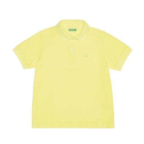 Polo de algodón amarillo de la nueva línea de Benetton Kids