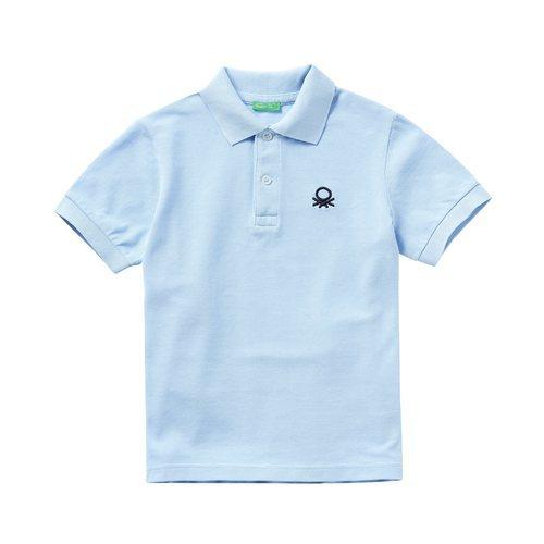 Polo azul cielo de la nueva línea de Benetton Kids