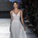 Vestido de estilo boho de Rosa Clará en la Barcelona Bridal Fashion Week 2018