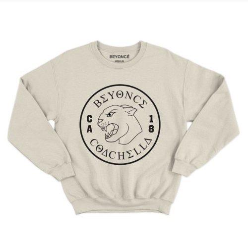 Sudadera de color gris de la colección de Beyoncé inspirada en Coachella