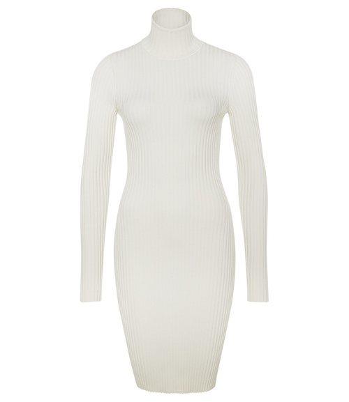 Vestido blanco ajustado de la firma Wolford de la campaña para el día de la madre 2018