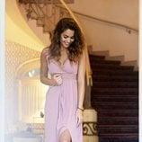 Vestido largo en color rosa de Blue Palm la firma creada por Lara Álvarez 2018