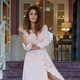 Vestido rosa claro de Blue Palm la firma creada por Lara Álvarez 2018