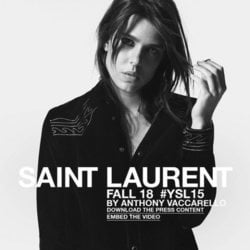 Carlota Casiraghi, protagonista de la colección otoño 2018 de Saint Laurent