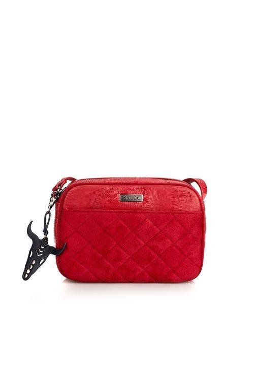 Bolso acolchado en color rojo de la firma Salsa 2018