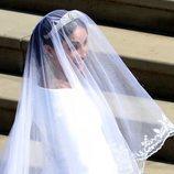 Detalle del velo del vestido de novia de Meghan Markle
