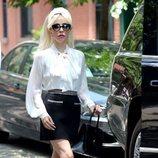 Lady Gaga con un look muy vintage en Nueva York