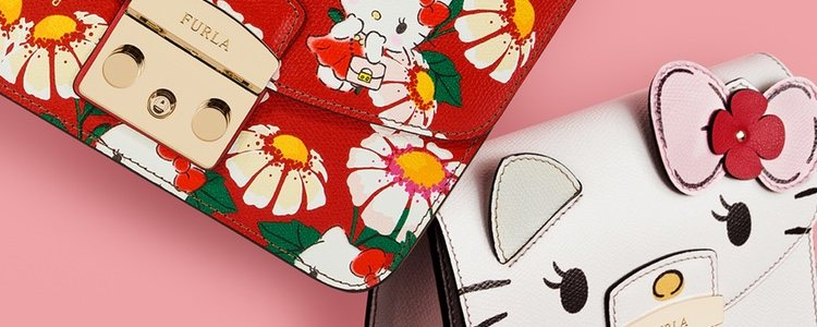 Furla reinventa su clásico modelo 'Metrópolis' en la colección de Hello Kitty