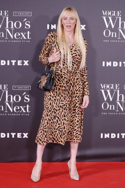 Topacio Fresh con un print de leopardo en los Premios Vogue Who's on Next