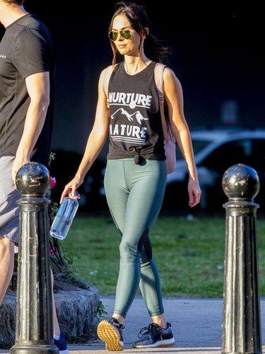 Megan Fox con un estiloso look deportivo en Nueva Orleáns