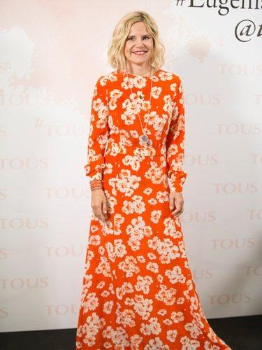 Eugenia Martínez de Irujo con un vestido de Dolores Promesas en la presentación de su colección de joyas para Tous