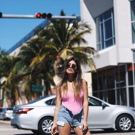 Bañador rosa de la colección 'Sweet Summer' 2018 de Dulceida