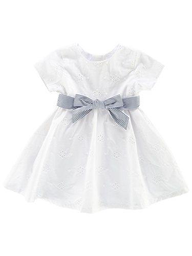 Vestido blanco con lazo de la colección 'Black&White' de Chicco