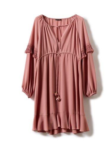 Vestido rosa pastel de la nueva colección otoño/inierno 2018/2019 de Sisley
