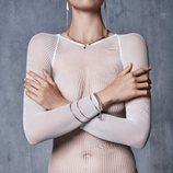 Body de rejilla en color blanco de la nueva colección otoño/invierno 18-19 del epidodio 1 de Wolford