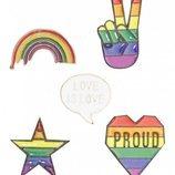 Pins con formas de la colección 'Pride 2018' de Primark