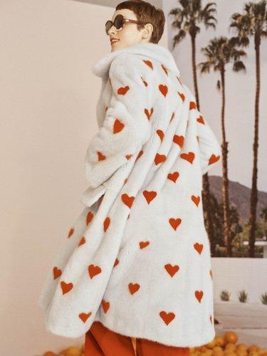 Abrigo de pelo de la colección Crucero 2019 de Carolina Herrera