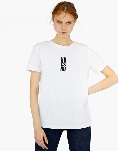 Camiseta 'No es no' de la colección primavera/verano 2018 de Stradivarius