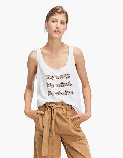Camiseta de tirantes estampada de la colección primavera/verano 2018 de Stradivarius