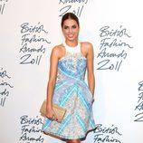 Amber Le Bon en los British Fashion Awards 2011
