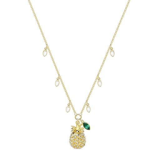 Collar dorado con forma de piña de la nueva colección de verano de Swarovski 2018