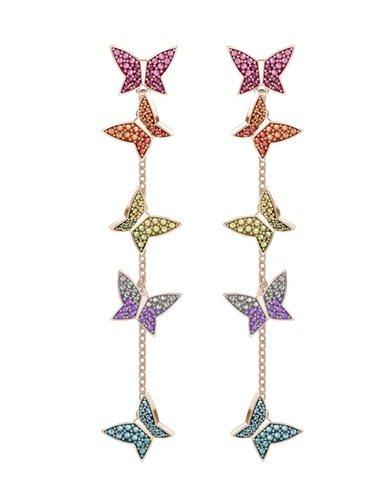 Pendientes largos de colores de la nueva colección de verano de Swarovski 2018
