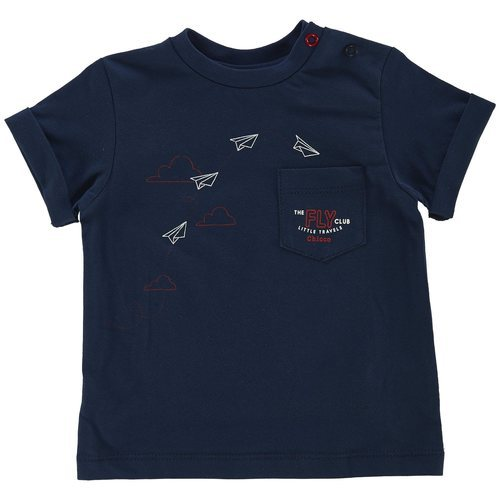 Camiseta azul marino con dibujos de la colección 'Have Fun' de Chicco