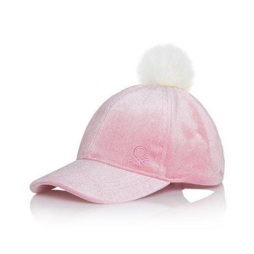 Gorra rosa de la colección otoño/inverno 2018-2019 de Benetton Kids