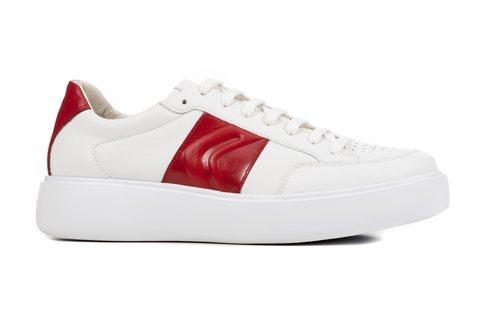 Zapatilla blanca de la colección masculina primavera/verano 2019 de Geox
