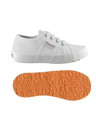 Zapatillas blancas de tela de la nueva colección otoño/invierno 2018-19 de Superga Kids