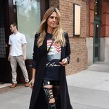 Heidi Klum con unos pantalones de cuero en las calles de Nueva York